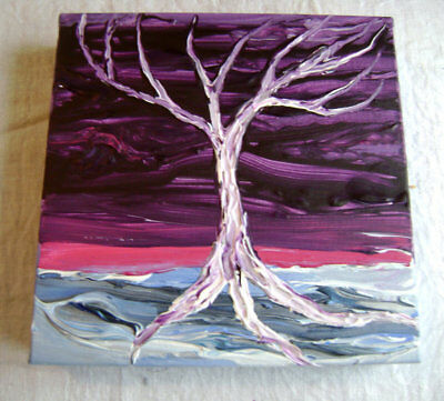 Magical - Original Abstract Acrylic Painting - Stretched Gallery Canvas - 8 x 8