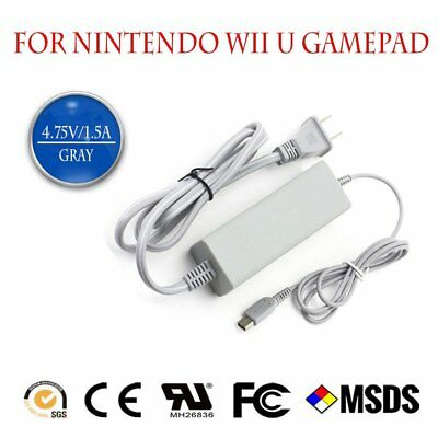 AC Wall Charger Power Adapter Cable Cord for Nintendo Wii U Gamepad US Plug HS