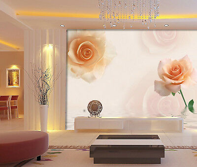 3D Pretty Pink Roses 7 Wall Paper Murals Wall Print Wall Wallpaper Mural AU Kyra
