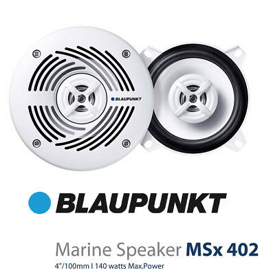 Blaupunkt 4 Inch 2-Way 140W White Marine Speaker NEW High Quality MSX402