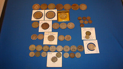 Collection, Lot - Britain U.K. - 47 Silver Coins 1865~1945 - You Grade It(#Yr73)