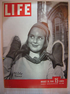 Life Magazine August 26, 1946 Fall College Fashions