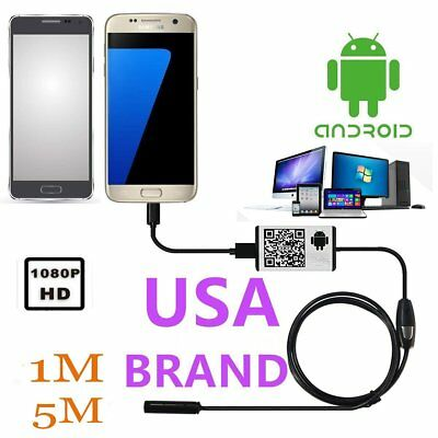 5M 7mm Endoscope 6 LED Waterproof Borescope Inspection HD Camera fr PC Android H
