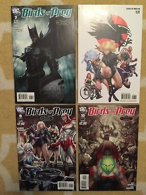Birds of Prey #7, 8, 9, 10 Stanley Artgerm Lau DC Comics See 12 Pics Batman
