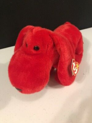 Ty Beanie Buddy 1998 Rover the Red Dog with tags - Retired - NEW with tags