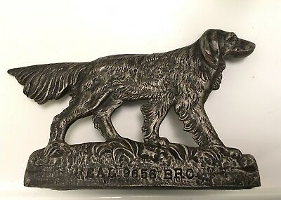 Antique Bronze Brass Irish Setter Pointer Retriever Dog Door Stop Figurine