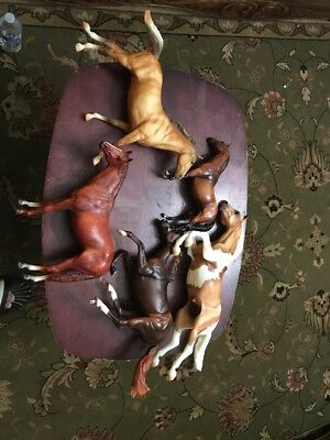 5-  Vintage Breyer Reeves & Breyer Molding Co. Horses Different Poses & Sizes