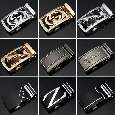 Luxury Leather Men's Automatic Buckle Fashion NO Waist Strap Belt Waistband