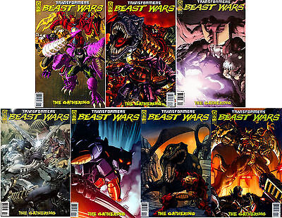 TRANSFORMERS BEAST WARS THE GATHERING #'s 1, 2, 3, 4 BY IDW COMICS NM/M