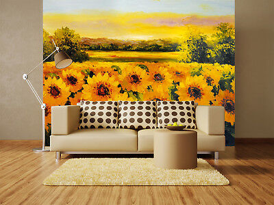 3D Draw Sunflowers 86 Wall Paper Murals Wall Print Wall Wallpaper Mural AU Carly
