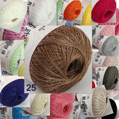 Thread No.8 Cotton Crochet Yarn Craft Tatting Hand Knit Embroidery 50grX1Ball