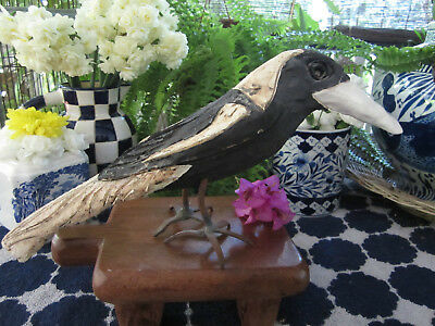 Quirky Sculpted Pottery & Metal Magpie By Brisbane Artist Jamie Peterson