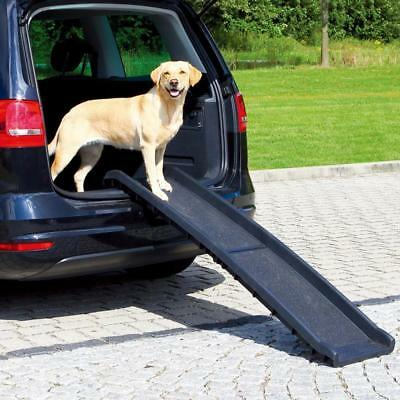 PET RAMP BLACK Grey Plastic Non-Slip Coating Lateral Safety Rails Collapsible