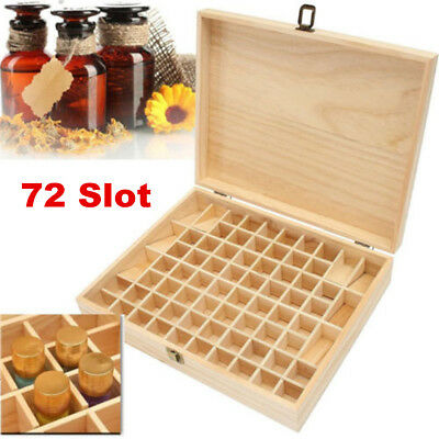 25 Slot Aromatherapy Essential Oil Storage Box Wooden Case Container Holder