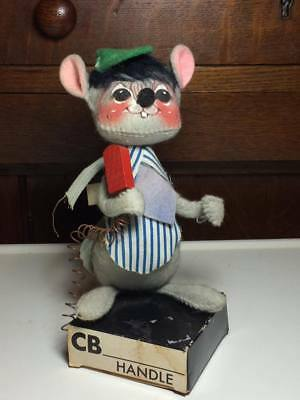 1971 Annalee Mobilitee Doll CB Handle Mouse plush souvenir made in USA