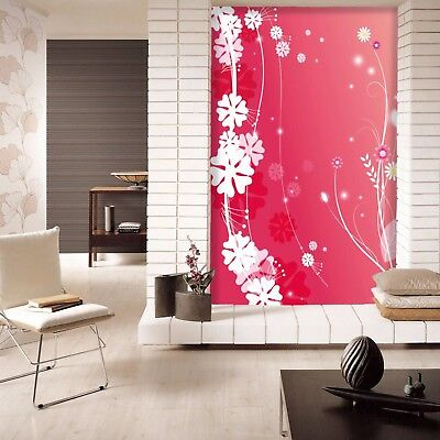 3D Pink White Petal 8 Wall Paper Murals Wall Print Wall Wallpaper Mural AU Carly