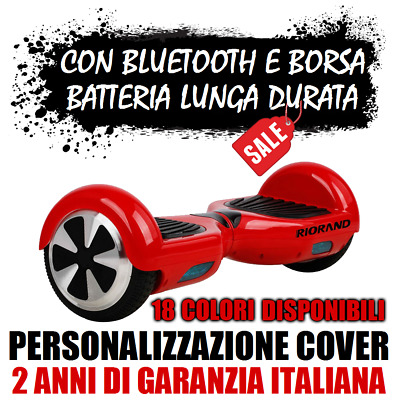 """Nuovo Balance Scooter 6,5"""" Riorand Overboard con Bluetooth speaker! Hoverboard"""