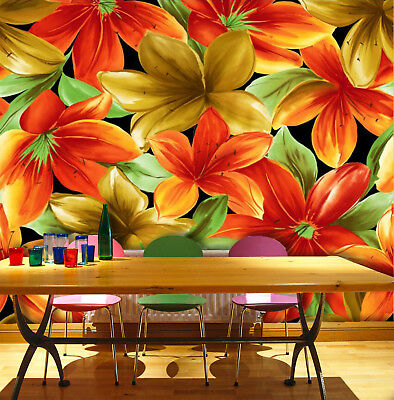 3D Bright Color Lily 7 Wall Paper Murals Wall Print Wall Wallpaper Mural AU Kyra