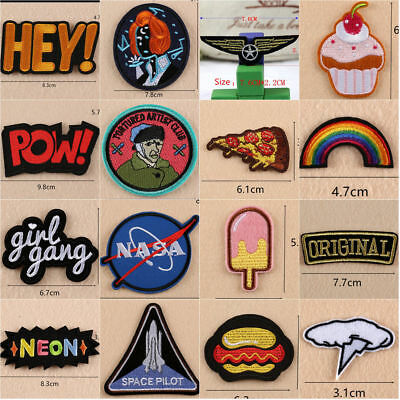Patches Embroidered Sew Iron On Patches Bag Badge Fabric Clothes Applique Dress