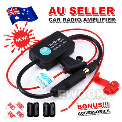 Auto Car Hidden Aerial Radio Signal Booster Amplifier AMP Strengthen 25db 12V AU