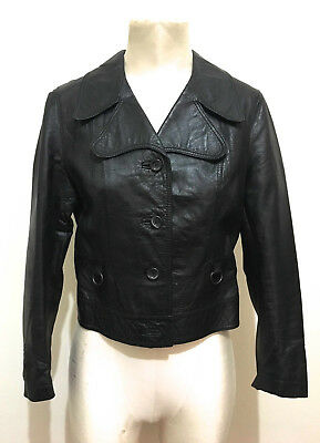 CULT VINTAGE '70 Giacca Donna Pelle England Woman Leather Jacket Sz.S - 42