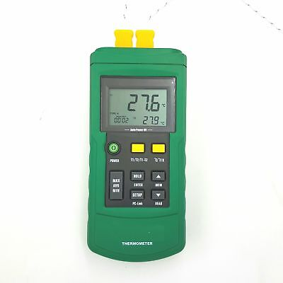 2 Channel Digital Thermocouple Thermometer/Sensor USB Datalog J/K/T/E/R/S/N Type