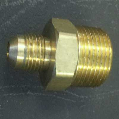 3/8 Male Flare X 3/4 Male Pipe Rv Fitting Heavy Brass