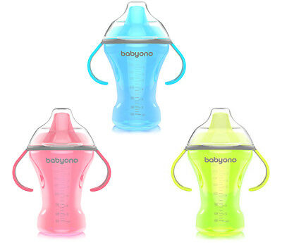 NON-SPILL CUP 260ml BABY TODDLER BABYONO WITH SOFT SPOUT NATURAL NURSING 1456