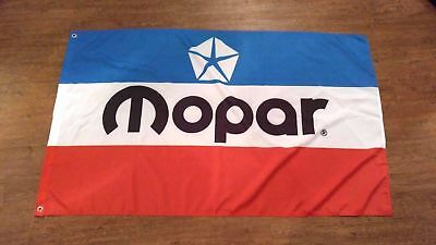 car racing banner 3x5FT 90x150cm for mopar Flag free shipping blue white red