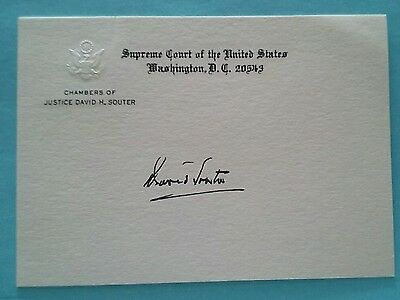 Signed United States Supreme Court Justice David H. Souter Chamber Card