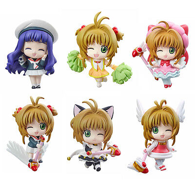 Card Captor Sakura set of 6pcs pvc figure toy anime collection new arrival