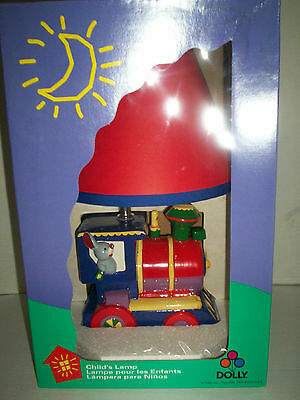 """Train Lamp with Elephant by Dolly, 15"""", New In Original Box"""