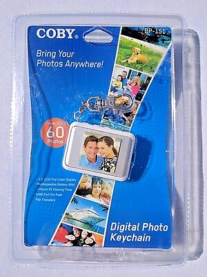 "Coby Dp-151 1.5"" Digital Picture Keychain New In Package! Free Shipping! Frame"