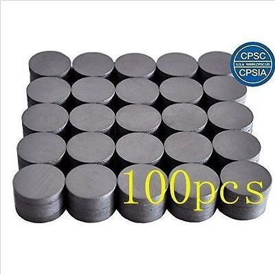 "3/4"" Round Ceramic Industrial Ferrite Magnets 100 pcs -BRAND NEW- FREE SHIPPING"