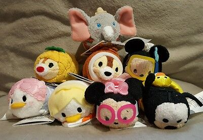 Holiday Tsum Tsums Complete Set Disney Store BNWT Scented Chip Dale Plush Mini