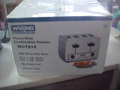 Waring WCT815 Heavy Duty Combination Toast Bagel Toaster 240 Volt BRAND NEW .
