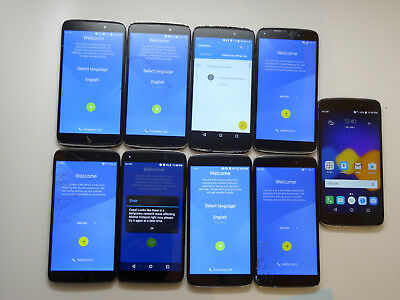 Lot of 9 Alcatel OneTouch Idol 3 6045O Cricket Smartphones AS-IS GSM Cracked