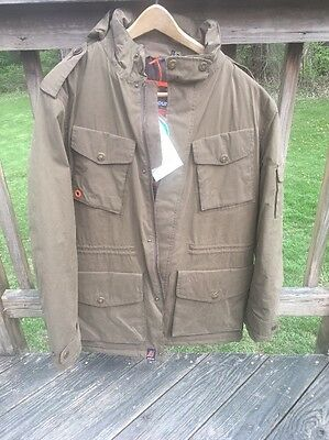 Barbour Hemble Greatcoat Jacket, Dark Sand, Size XL, New With Tags