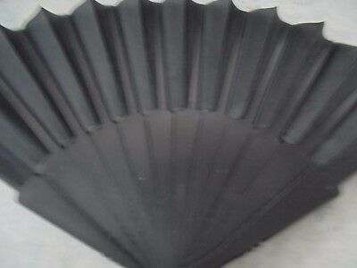 """Ladies/woman's New Plastic Black/net Fan, Great For Dances To Keep Cool 9"""" Long"""