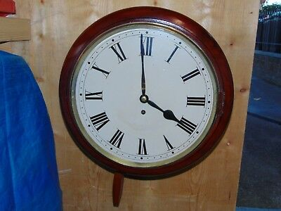 """Antique 15"""" Mahogony Chain Driven Fusee Dial Clock Fully Overhauled."""