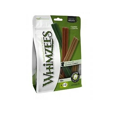 Whimzees Stix Pre pack Bag Vegatable Treat chew reward 180mm (Large) 7 pack