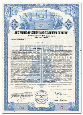 Pacific Telephone and Telegraph Company Bond Certificate (Bell's First Phone)