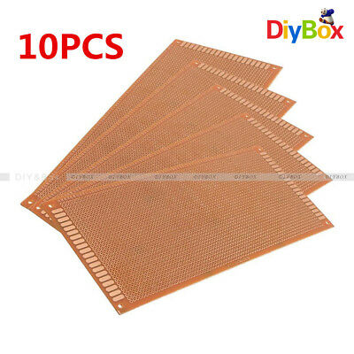 10PCS 10x22cm Soldering Prototype Copper PCB Board Single Side Universal 2.54mm