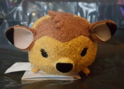 Mini Tsum Tsum Bambi With Butterfly From Bambi Disney Store Genuine IN HAND BNWT