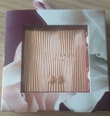 Ted Baker Rose Gold Double Sided Compact Purse Bag Mirror New Christmas Gift