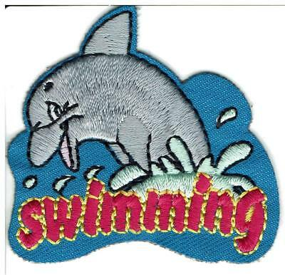 Girl Boy Cub SWIMMING Fun Patches Crests Badges SCOUT GUIDE Swim Dolphin Ocean