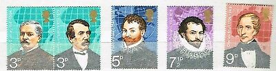 Great Britain 1973 - British Explorers- Used Set Sg 923/27