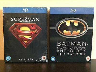 The Superman 5 Film Collection & Batman: The Motion Picture Anthology  [Blu-ray]