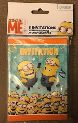DESPICABLE ME 2 Minions Bob PartyBirthday Invitations with