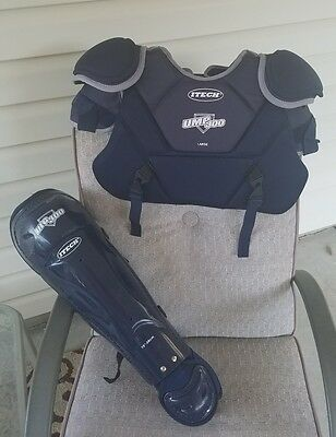 Itech UMP300 Chest Protector Shoulder Upper Arm Size L And Shin Guards